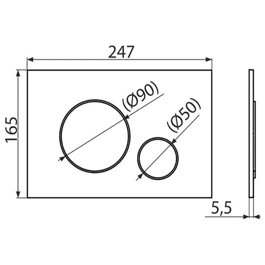 Кнопка управления AlcaPlast Thin M670 (белая)