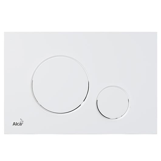 Кнопка управления AlcaPlast Thin M676 (белый матовый)