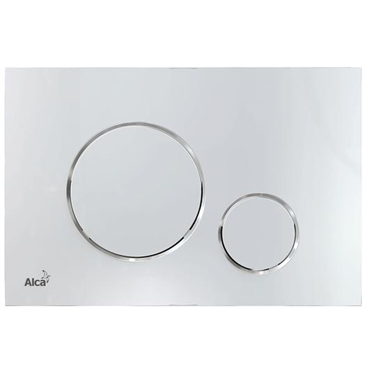 Кнопка управления AlcaPlast Thin M770 (белый/ хром глянцевый)