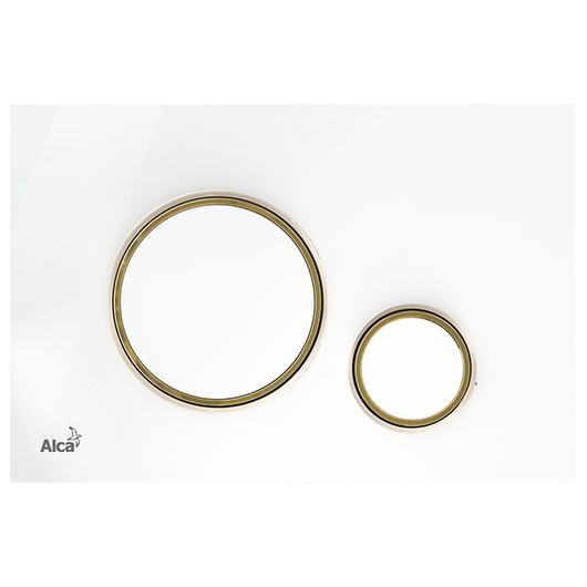 Кнопка управления AlcaPlast Thin M775 (белый/золото)
