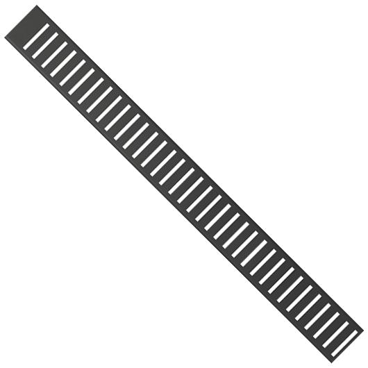 Водоотводящая решетка AlcaPlast PURE-1450BLACK (1450 мм) черная матовая