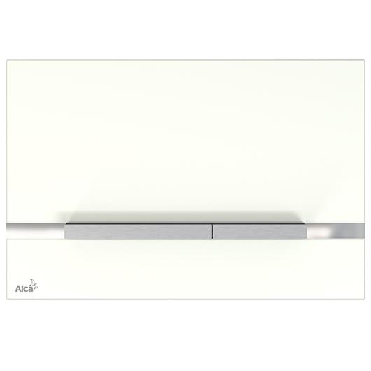 Кнопка управления AlcaPlast Flat STRIPE-GL1200 (белое стекло)