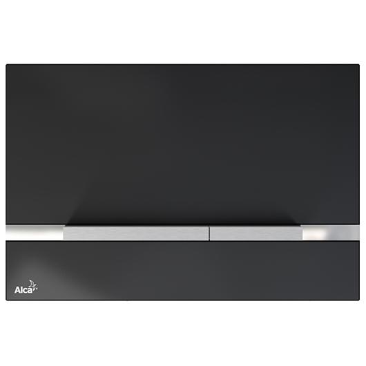 Кнопка управления AlcaPlast Flat STRIPE-GL1204 (черное стекло)