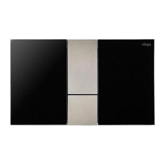 Панель смыва Viega Prevista Visign for Style 24 773328 (корпус черный глянцевый/клавиши нержавеющая сталь)