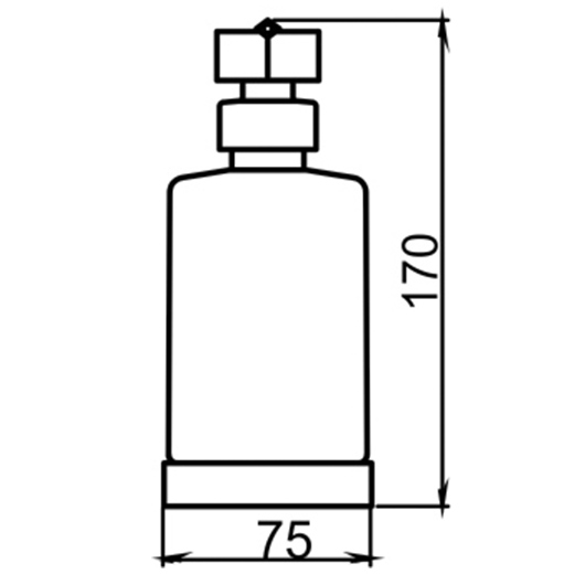 Дозатор жидкого мыла Novaservis Metalia 4 6450/1.5 (черное стекло)