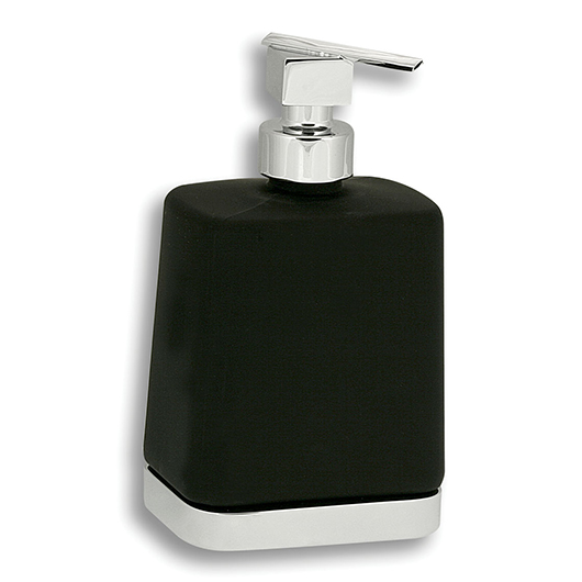 Дозатор жидкого мыла Novaservis Metalia 4 6450.5 (черное стекло/хром)