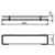 Полка Novaservis Metalia 4 6453.0 (600 мм, с ограждением)