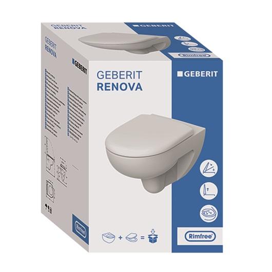 Унитаз подвесной Geberit Renova Rimfree 500.801.00.1 (безободковый)