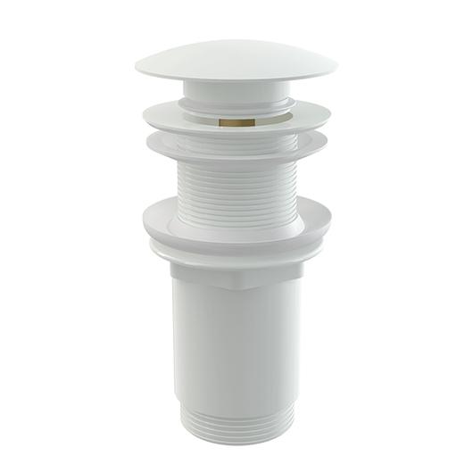 Донный клапан AlcaPlast A395B (белый) для раковин без перелива
