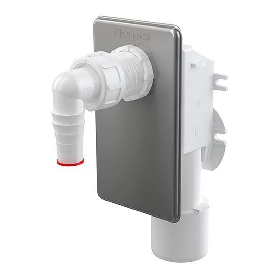 Сифон для стиральной/посудомоечной машины AlcaPlast APS3 (хром глянцевый)
