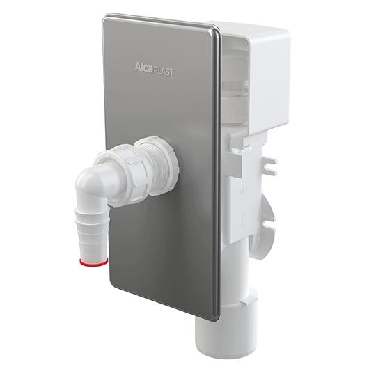 Сифон для стиральной/посудомоечной машины AlcaPlast APS3P (хром глянцевый)