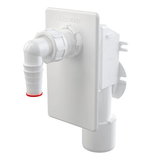 Сифон для стиральной/посудомоечной машины AlcaPlast APS4 (белый)
