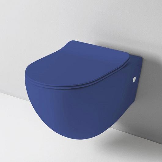 Чаша подвесного унитаза ArtCeram File 2.0 Rimless FLV004 16 00 безободковая (Blue Sapphire Matt)