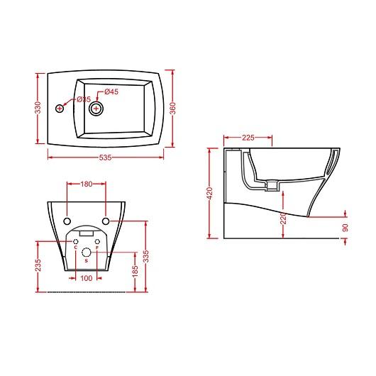 Биде подвесное ArtCeram Jazz JZB001 05 00 (белое матовое)