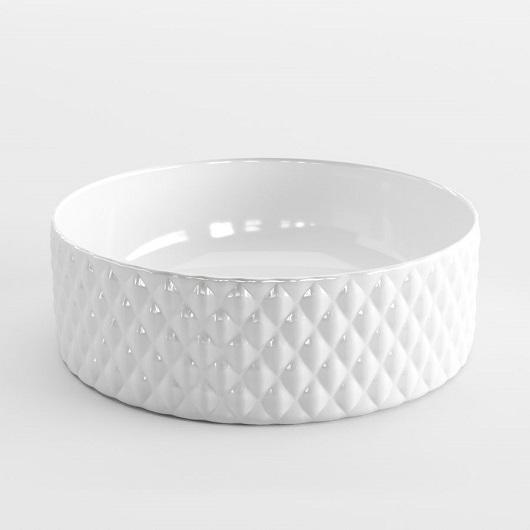 Раковина накладная ArtCeram Rombo OSL009 01 00 (Ø 440 мм) белая