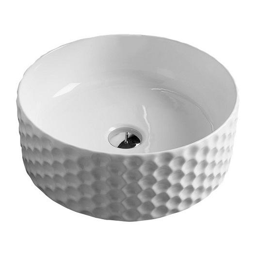Раковина накладная ArtCeram Esagono OSL013 01 00 (Ø 400 мм) белая