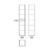 Шкаф высокий OWL 1975 Malaren OW03.09.05 (белый глянцевый, 1720х350 мм)