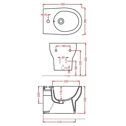 Биде подвесное ArtCeram Smarty 2.0 SMB001 01 00