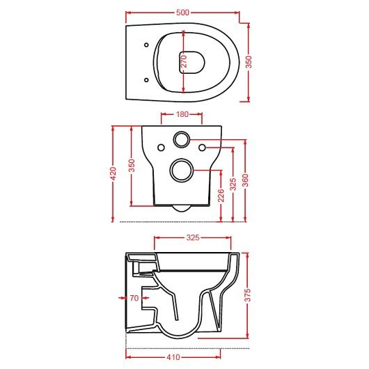 Чаша подвесного унитаза ArtCeram Smarty 2.0 Rimless SMV001 01 00 безободковая