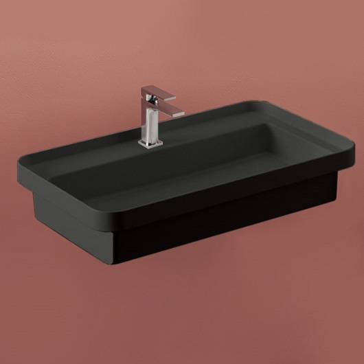 Раковина ArtCeram Fuori Scala TFL035 17 00 (805х455 мм) черная матовая