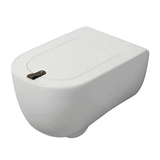 Чаша подвесного унитаза ArtCeram The One Rimless THV001 05 00 безободковая (белая матовая)