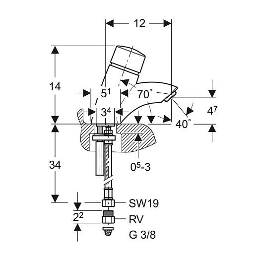 Порционный смеситель Geberit тип 26 115.721.21.1