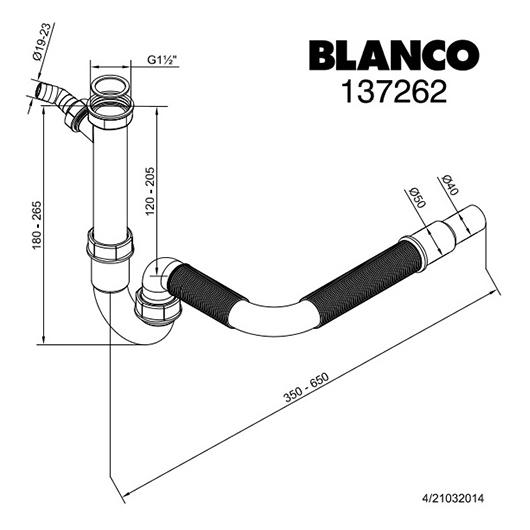 Сифон для кухонной мойки Blanco 137262