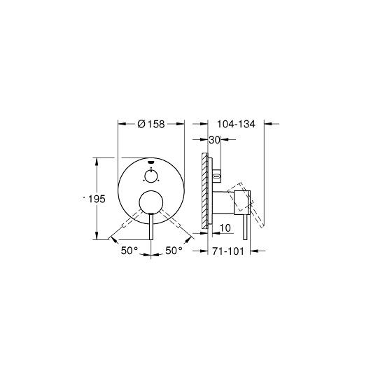 Смеситель для ванны Grohe Atrio 24096DC3 (supersteel)