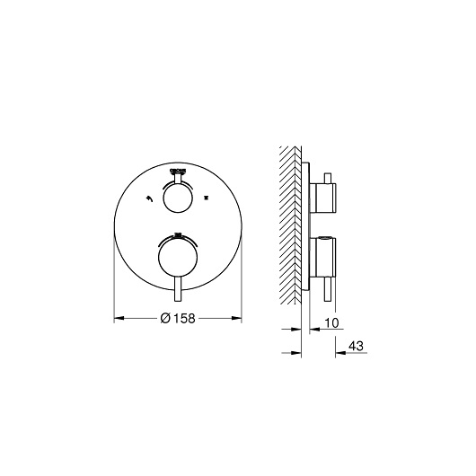 Термостат для ванны Grohe Atrio 24135DC3 (supersteel)