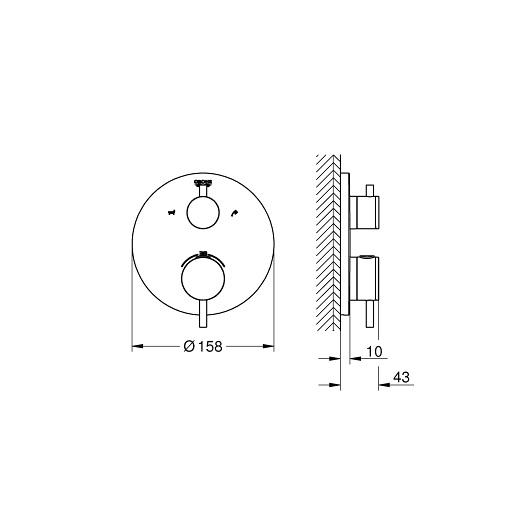 Термостат для ванны Grohe Atrio 24138003