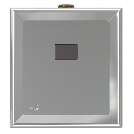 Привод смыва для писсуара AlcaPlast ASP4-B (хром/6 В подключение к аккумулятору)