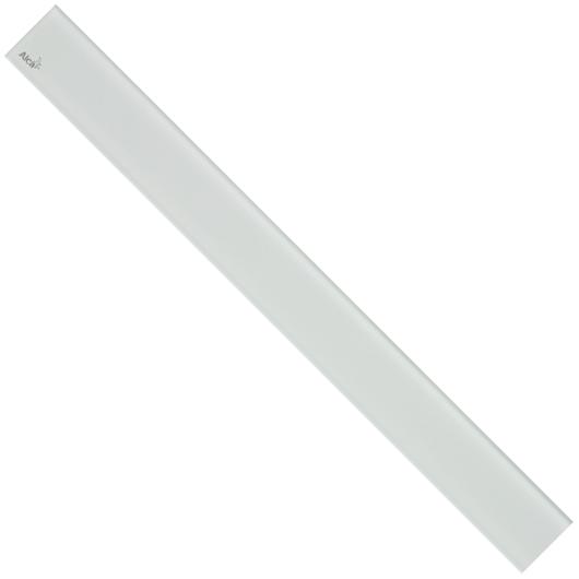 Декоративная решетка AlcaPlast GL1200-1150 (1150 мм) белое стекло