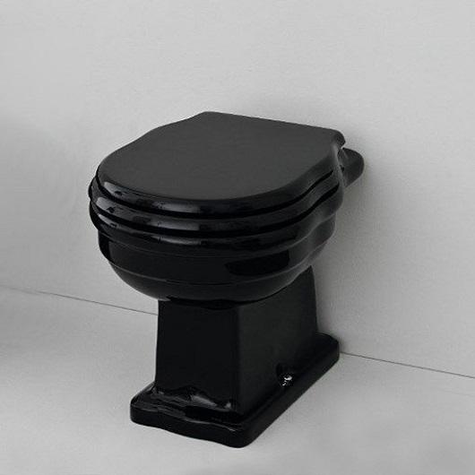 Сиденье с крышкой для унитаза ArtCeram Hermitage HEA005 03 71 SoftClose (черное/хром)