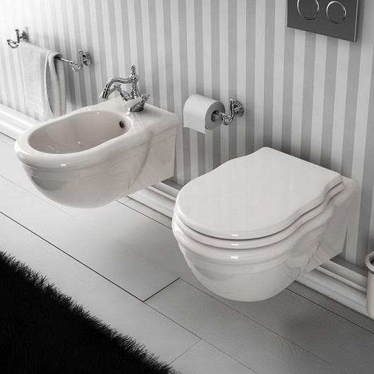 Сиденье с крышкой для унитаза ArtCeram Hermitage HEA005 01 72 SoftClose (белое/бронза)
