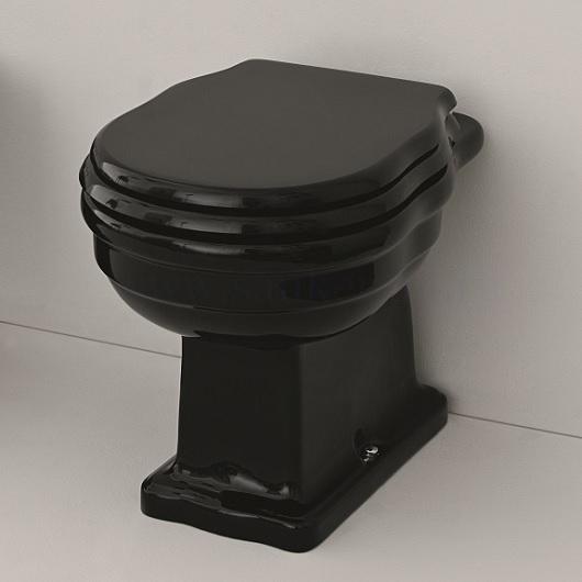 Чаша приставного унитаза ArtCeram Hermitage HEV003 03 00 (черная) выпуск в стену