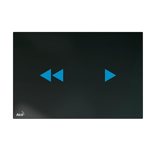 Кнопка управления бесконтактная AlcaPlast NIGHT LIGHT-2 (стекло/черный)