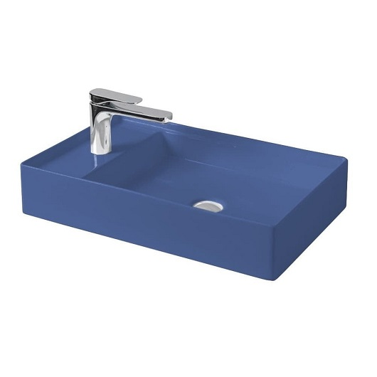 Раковина накладная ArtCeram Scalino 60 SCL003 16 00 (600х380 мм) Blue Sapphire Matt
