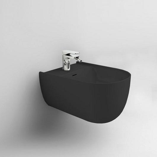 Биде подвесное ArtCeram The One THB001 17 00 (черное матовое)