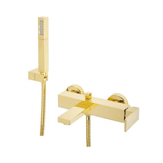 Смеситель для ванны Migliore Kvant Gold 25391 (ML.KVT-2703.DO) (золото)