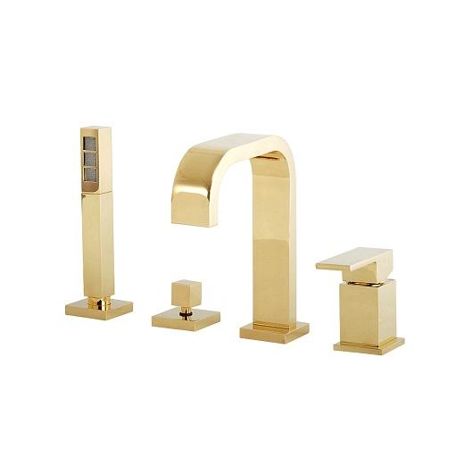Смеситель для ванны Migliore Kvant Gold 25392 (ML.KVT-2756.DO) (золото)