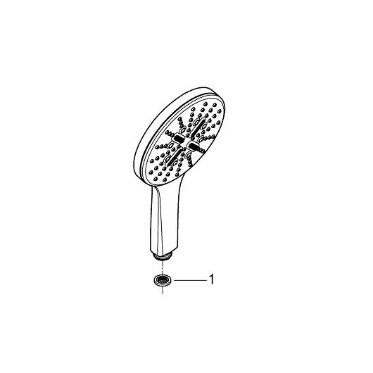 Ручной душ Grohe Rainshower 130 SmartActive 26574EN0 (9,5 л/мин, матовый никель)