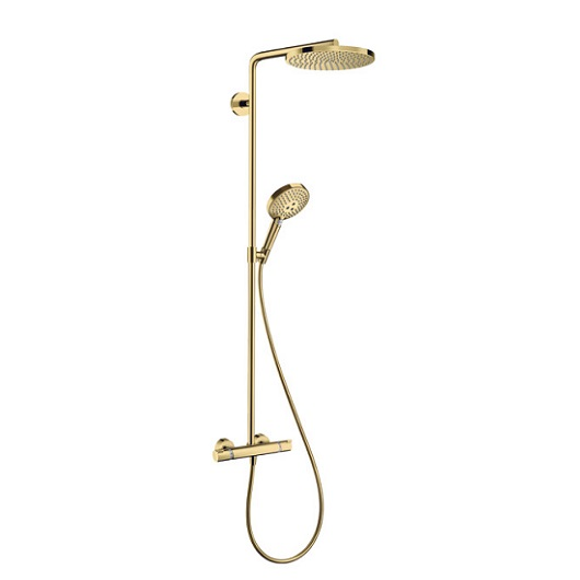 Душевая система Hansgrohe Raindance Select S Showerpipe 240 1jet 27633990 (полированное золото)