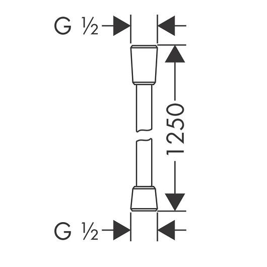 Душевой шланг Hansgrohe Isiflex 28272670 (черный матовый)