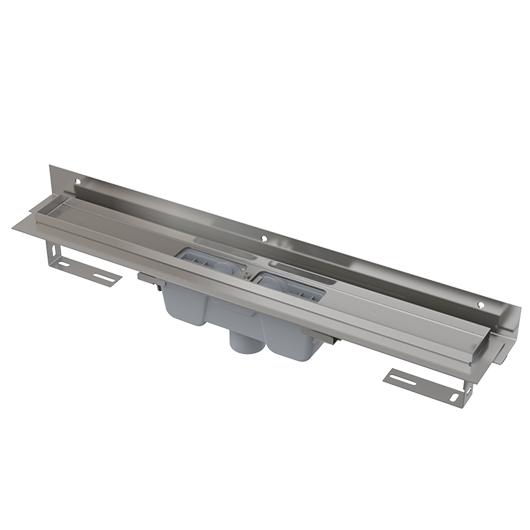 Водоотводящий желоб AlcaPlast APZ1004-1150 Flexible (1150 мм, пристенный, вертикальный выпуск)