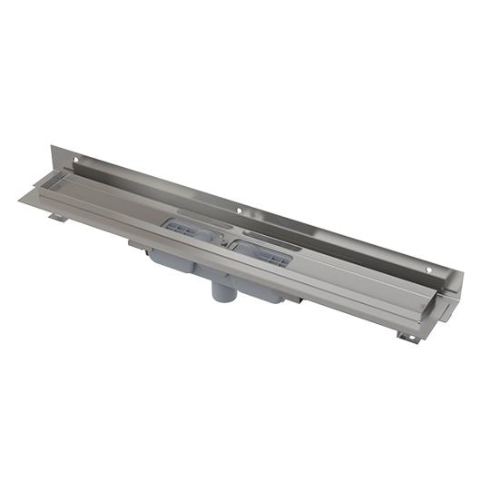 Водоотводящий желоб AlcaPlast APZ1104-1150 Flexible Low (1150 мм, пристенный, вертикальный выпуск)