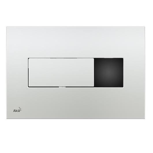 Сенсорная кнопка управления AlcaPlast M371SB (хром-глянец, подключение к аккумулятору)