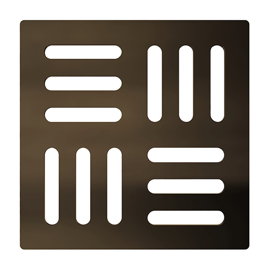 Решетка для трапа AlcaPlast MPV001-ANTIC (бронза-антик)