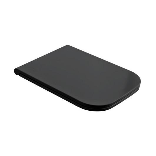 Сиденье с крышкой для унитаза Scarabeo Teorema 2.0 8305/B/49 SoftClose (черное матовое)