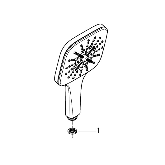 Ручной душ Grohe Rainshower SmartActive 130 Cube 26550000