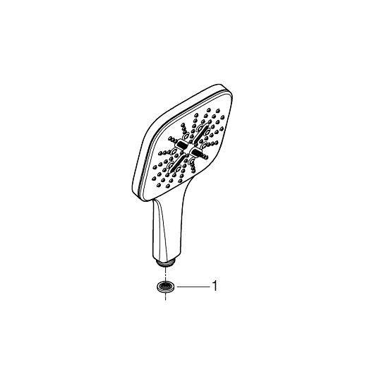 Ручной душ Grohe Rainshower SmartActive 130 Cube 26551LS0